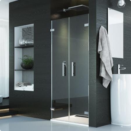 Ronal Sanswiss Pur Drzwi dwuczęściowe 125x200 cm, profile chrom szkło przezroczyste PUR2SM11007