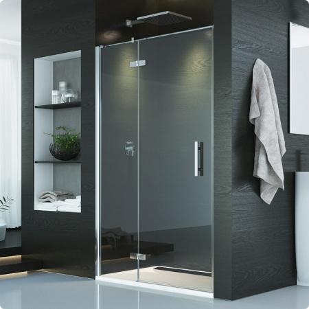 Ronal Sanswiss Pur Drzwi jednoczęściowe ze ścianką stałą w linii, montaż z profilem przyściennym 120x200 cm lewe, profile chrom szkło przezroczyste PU13PG1201007