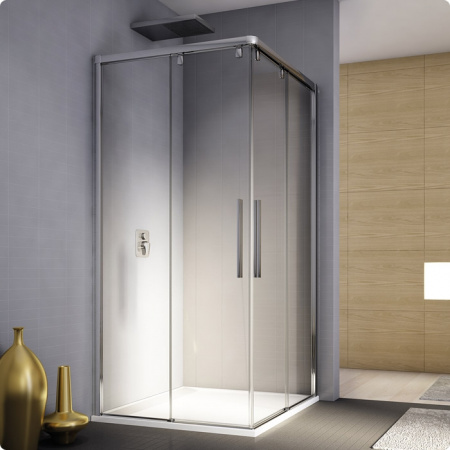 Ronal Sanswiss Pur Light S Kabina prysznicowa narożna z drzwiami dwuczęściowymi rozsuwanymi 120x200 cm lewe, profile połysk szkło przezroczyste PLSE2G1205007