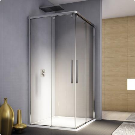 Ronal Sanswiss Pur Light S Kabina prysznicowa narożna z drzwiami dwuczęściowymi rozsuwanymi 90x200 cm prawe, profile białe szkło przezroczyste PLSE2D0900407