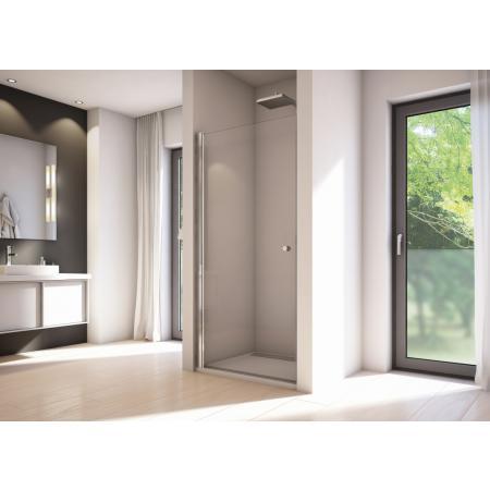 Ronal Sanswiss Solino SOL1 Drzwi prysznicowe wahadłowe 80x200 cm, profile srebrny połysk szkło przezroczyste Aquaperle SOL108005007