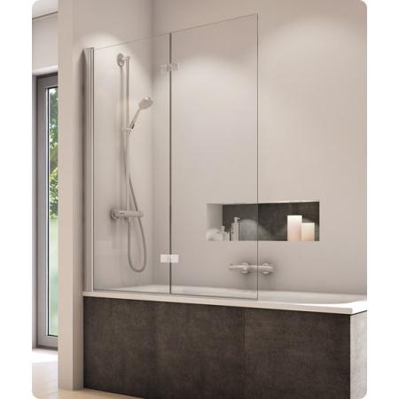 Ronal SanSwiss Solino Parawan nawannowy2-częściowy 120x150 cm, profile srebrny połysk, szkło przezroczyste z powłoką AquaPerle SOLB2