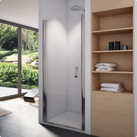 Ronal Sanswiss Swing-Line Drzwi jednoczęściowe 70x195 cm, profile srebrny mat szkło przezroczyste SL107000107