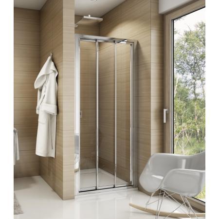 Ronal Sanswiss Top-Line TOPS3 Drzwi prysznicowe przesuwne 90x190 cm, profile srebrny połysk szkło przezroczyste Aquaperle TOPS309005007