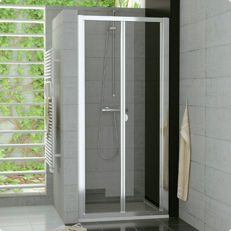 Ronal Sanswiss Top-Line Drzwi przesuwno-składane 2-częściowe 70x190 cm, profile srebrny mat szkło przezroczyste TOPK07000107