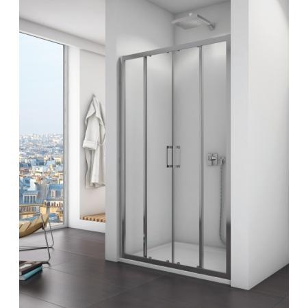 Ronal Sanswiss Top-Line TOPS4 Drzwi prysznicowe przesuwne 140x190 cm, profile srebrny połysk szkło przezroczyste Aquaperle TOPS414005007