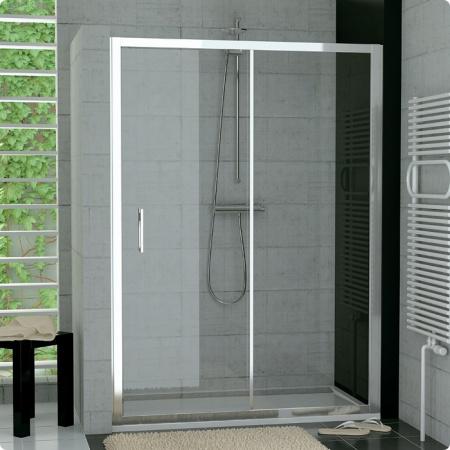 Ronal Sanswiss Top-Line Drzwi rozsuwane dwuczęściowe 120-180xdo 190 cm, profile srebrny mat szkło przezroczyste TOPS2SM10107