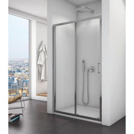 Ronal Sanswiss Top-Line TOPS2 Drzwi prysznicowe przesuwne 140x190 cm, profile srebrny połysk szkło przezroczyste Aquaperle TOPS214005007