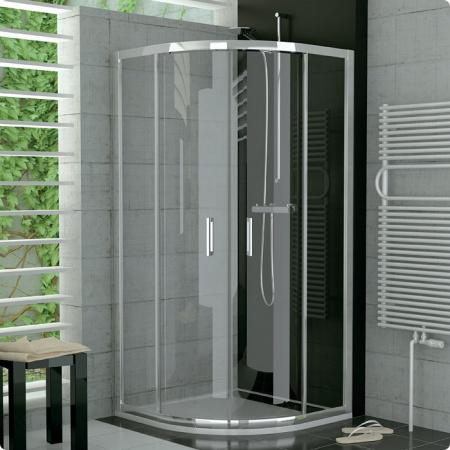 Ronal Sanswiss Top-Line Kabina półokrągła z drzwiami rozsuwanymi 90,1-120x190 cm, profile białe szkło przezroczyste TOPR50SM20407