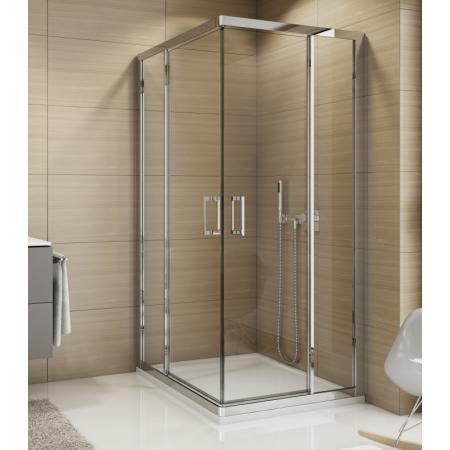 Ronal Sanswiss Top-Line TED2 Drzwi prysznicowe wahadłowe 100x190 cm lewe, profile srebrny połysk szkło przezroczyste Aquaperle TED2G10005007