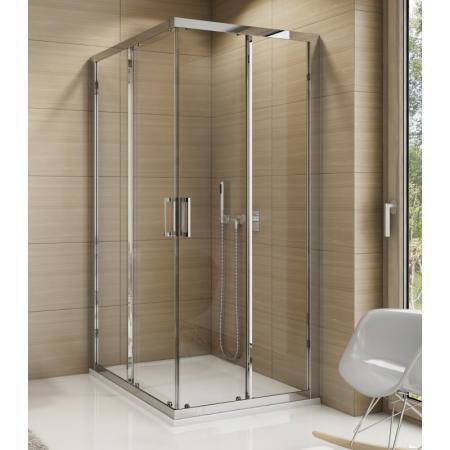 Ronal Sanswiss Top-Line TOPAC Kabina prysznicowa narożna 80x80x190 cm drzwi przesuwne, profile srebrny połysk szkło przezroczyste Aquaperle TOPAC08005007