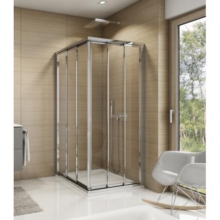Ronal Sanswiss Top-Line TOE3 Drzwi prysznicowe przesuwne 70x190 cm lewe, profile srebrny połysk szkło przezroczyste Aquaperle TOE3G07005007