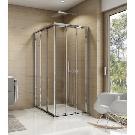 Ronal Sanswiss Top-Line TOE3 Drzwi prysznicowe przesuwne 100x190 cm lewe, profile srebrny połysk szkło przezroczyste Aquaperle TOE3G10005007