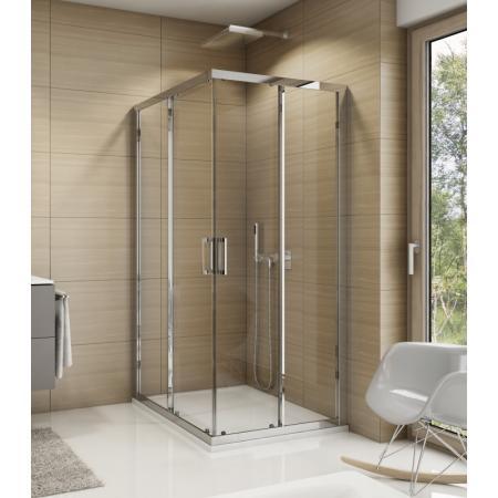 Ronal Sanswiss Top-Line TOP G Drzwi prysznicowe przesuwne 80x190 cm lewe, profile srebrny połysk szkło przezroczyste Aquaperle TOPG08005007