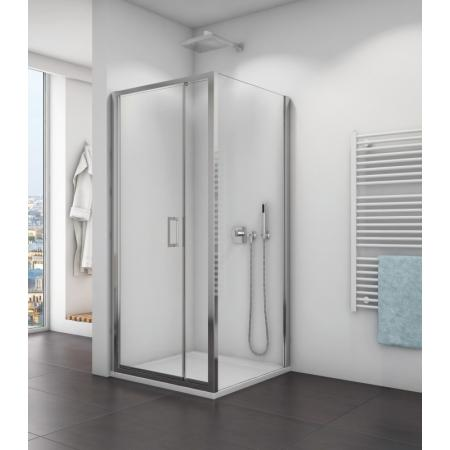Ronal Sanswiss Top-Line TOPF Ścianka boczna 120x190 cm, profile białe szkło przezroczyste Aquaperle TOPF12000407