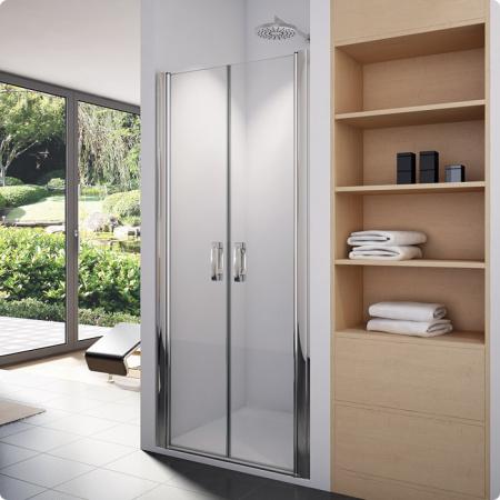 Ronal Sanswiss Swing-Line Drzwi dwuczęściowe 70x195 cm, profile srebrny mat szkło przezroczyste SL207000107
