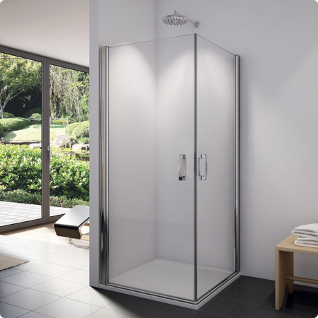 Ronal Sanswiss Swing-Line Wejście narożne jednoczęściowe 90x195 cm drzwi prawe, profile białe szkło przezroczyste SLE1D09000407