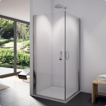 Ronal Sanswiss Swing-Line Wejście narożne jednoczęściowe 90x195 cm drzwi prawe, profile srebrny mat szkło przezroczyste SLE1D09000107