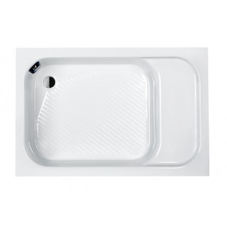 Sanplast Classic Bzs/CL Brodzik prostokątny 110x80x28 cm akrylowy z siedziskiem i stelażem STB, biały 615-010-0530-01-000