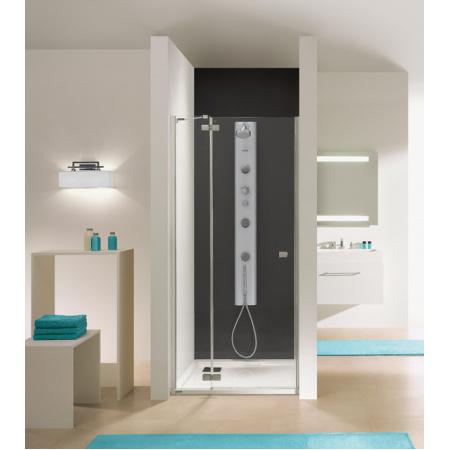 Sanplast Free Line DJ2/FREE Drzwi prysznicowe 80x195 cm z powłoką Glass Protect, profile chrom szkło przezroczyste 600-260-0300-42-401