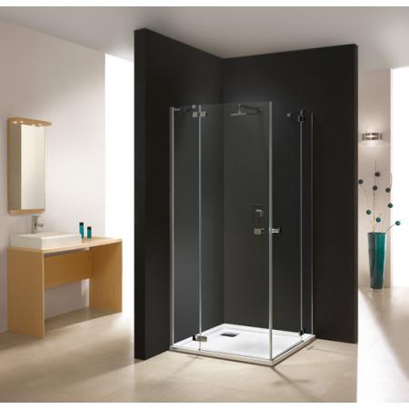 Sanplast Free Line KN4/FREE Kabina prysznicowa kwadratowa 90x90x195 cm z powłoką Glass Protect, profile chrom szkło przezroczyste 600-260-0220-42-401
