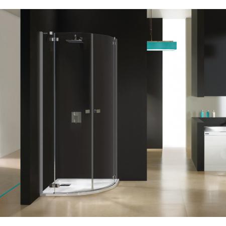 Sanplast Free Line KP4/FREE Kabina prysznicowa półokrągła 80x80x195 cm z powłoką Glass Protect, profile chrom szkło przezroczyste 600-260-0010-42-401