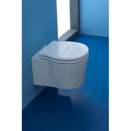 Scarabeo Bucket Muszla klozetowa miska WC podwieszana 40x29x28,5 cm, biała 8815