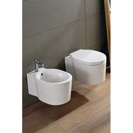 Scarabeo Bucket Muszla klozetowa miska WC podwieszana 53,5x36x29,5 cm, biała 8812
