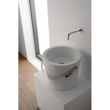 Scarabeo Bucket Umywalka nablatowa 30x22,5 cm, biała 8801