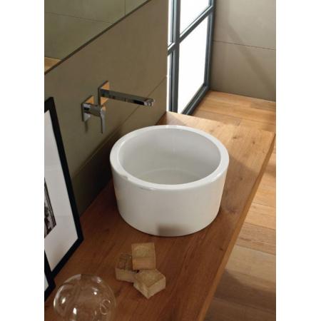 Scarabeo Bucket Umywalka nablatowa 35x22 cm, biała 8808