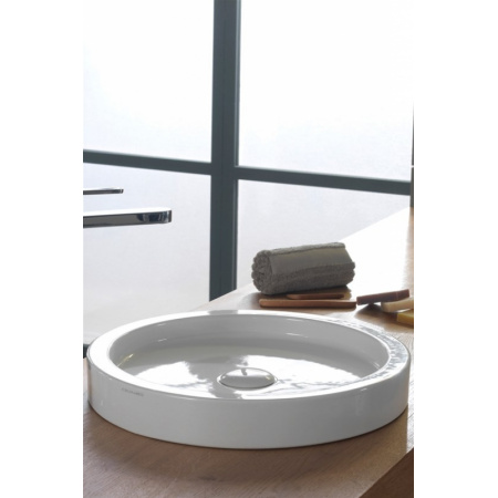 Scarabeo Bucket Umywalka nablatowa 42x6 cm, biała 8810