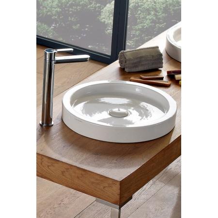 Scarabeo Bucket Umywalka nablatowa 50x6 cm, biała 8809
