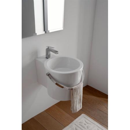 Scarabeo Bucket Umywalka wisząca lub nablatowa 30x40x22,5 cm, biała 8802
