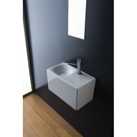 Scarabeo Cube Umywalka wisząca lub nablatowa 42x24x24 cm, biała 1522