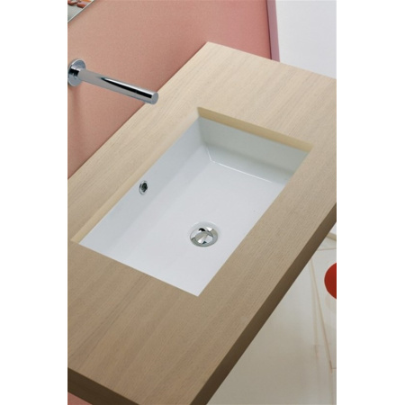 Scarabeo Gaia-Tech-Miky Umywalka podblatowa 54,5x36x16 cm, biała 8037