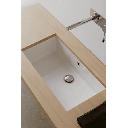 Scarabeo Gaia-Tech-Miky Umywalka podblatowa 57x30,5x20,5 cm, biała 8091