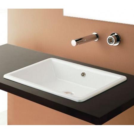 Scarabeo Gaia-Tech-Miky Umywalka wpuszczana w blat 56x39,5x15,5 cm, biała 8032