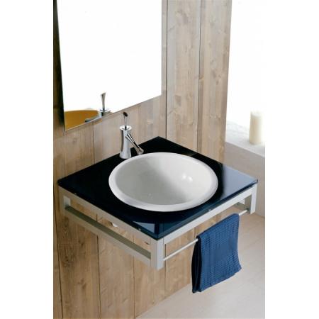 Scarabeo In-out Umywalka wpuszczana w blat 39,5x18 cm, biała 8021