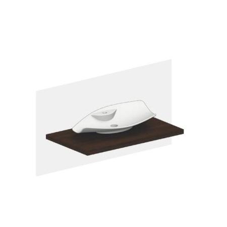 Scarabeo Kong Umywalka nablatowa 72x37x13 cm, biała 8052/R