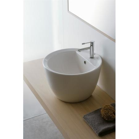 Scarabeo Matty Umywalka nablatowa 46x46x30 cm, biała 8055/R