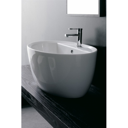 Scarabeo Matty Umywalka nablatowa 64x46x30 cm, biała 8056/R