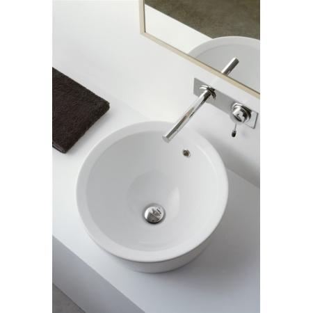 Scarabeo Matty Umywalka wpuszczana w blat 46x46x30 cm, biała 8055/A