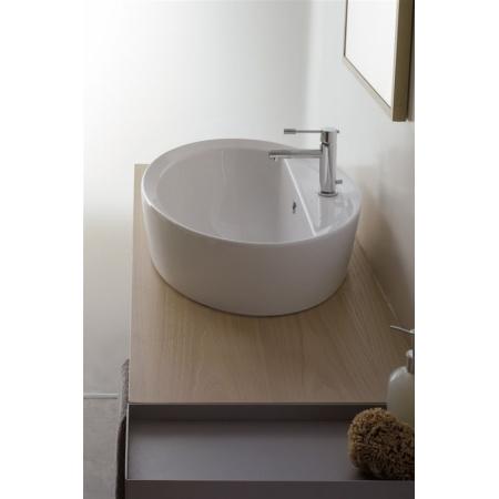 Scarabeo Matty Umywalka wpuszczana w blat 64x46x30 cm, biała 8056/A/R