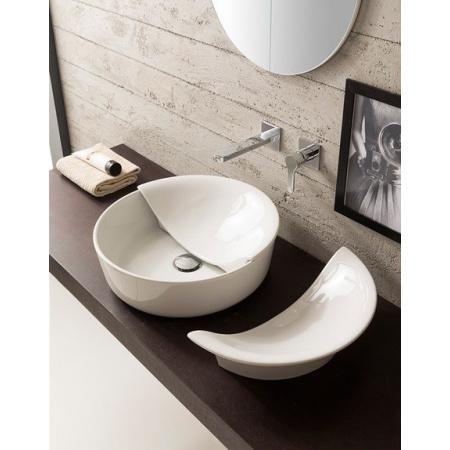 Scarabeo Mizu Pokrywa do umywalki 45 cm, biała 9009