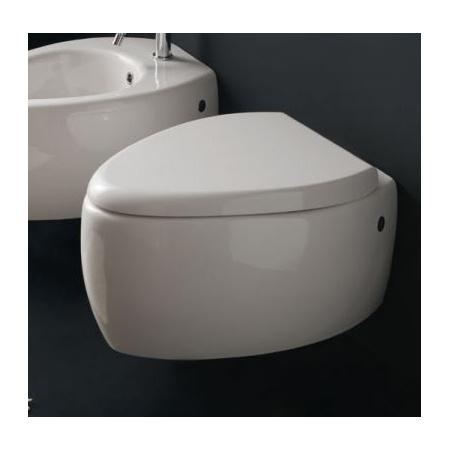 Scarabeo Moai Muszla klozetowa miska WC podwieszana 55x41x37 cm, biała 8604