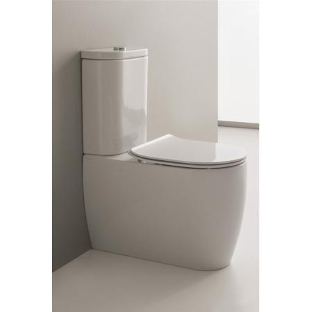 Scarabeo Moon Muszla klozetowa miska WC kompaktowa 66x36x42 cm, biała 5526