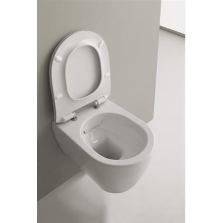 Scarabeo Moon Muszla klozetowa miska WC podwieszana 50,5x36x36 cm, biała 5520/CL
