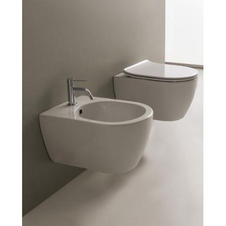 Scarabeo Moon Muszla klozetowa miska WC podwieszana 50,5x36x36 cm, biała 5520