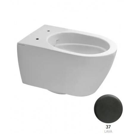 Scarabeo Moon Toaleta WC podwieszana 50,5x36 cm Clean Flush bez kołnierza, kolor 37 lava 5520CL37