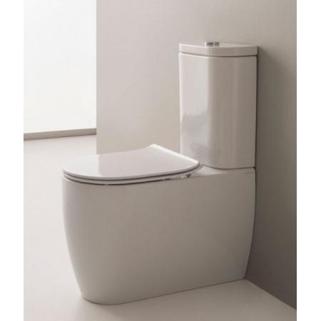 Scarabeo Moon Zbiornik WC kompaktowy 36x15x44 cm, biały 5527